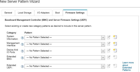 Defining firmware settings - Lenovo XClarity Administrator
