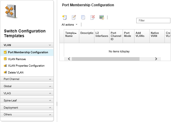 Creating a switch-configuration template- Lenovo XClarity Administrator