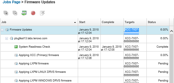 Applying and activating firmware updates - Lenovo XClarity Administrator