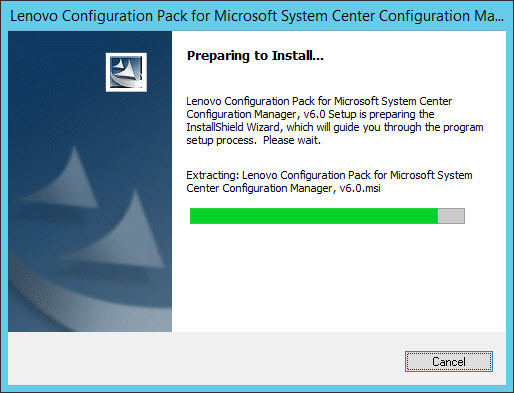 Installing the Lenovo Configuration Pack - Lenovo Configuration Pack