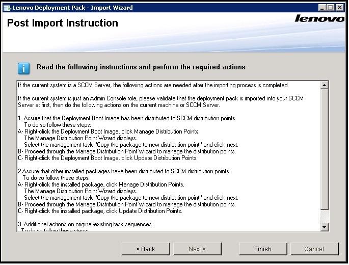 Importing the Lenovo Deployment Pack into SCCM - Lenovo