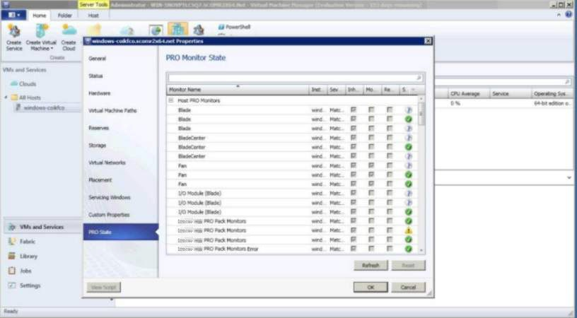 Viewing alerts using System Center Virtual Machine Manager