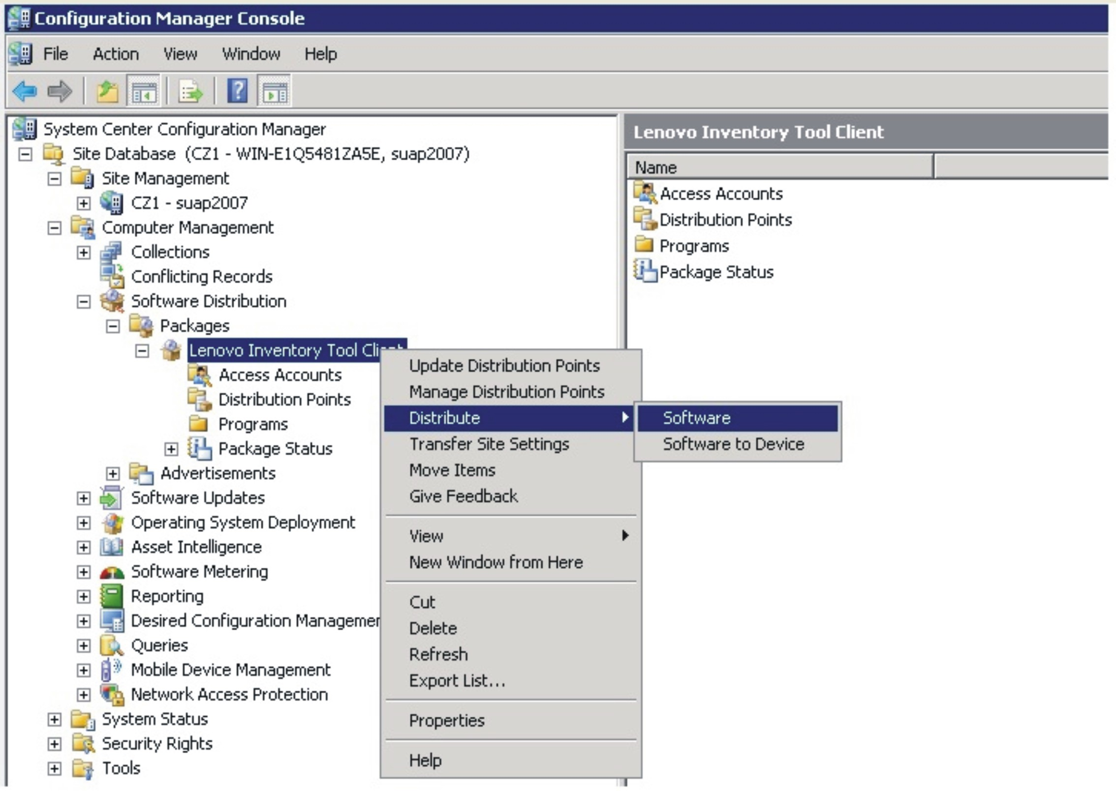 Deploying the Lenovo Inventory Tool client package - Lenovo