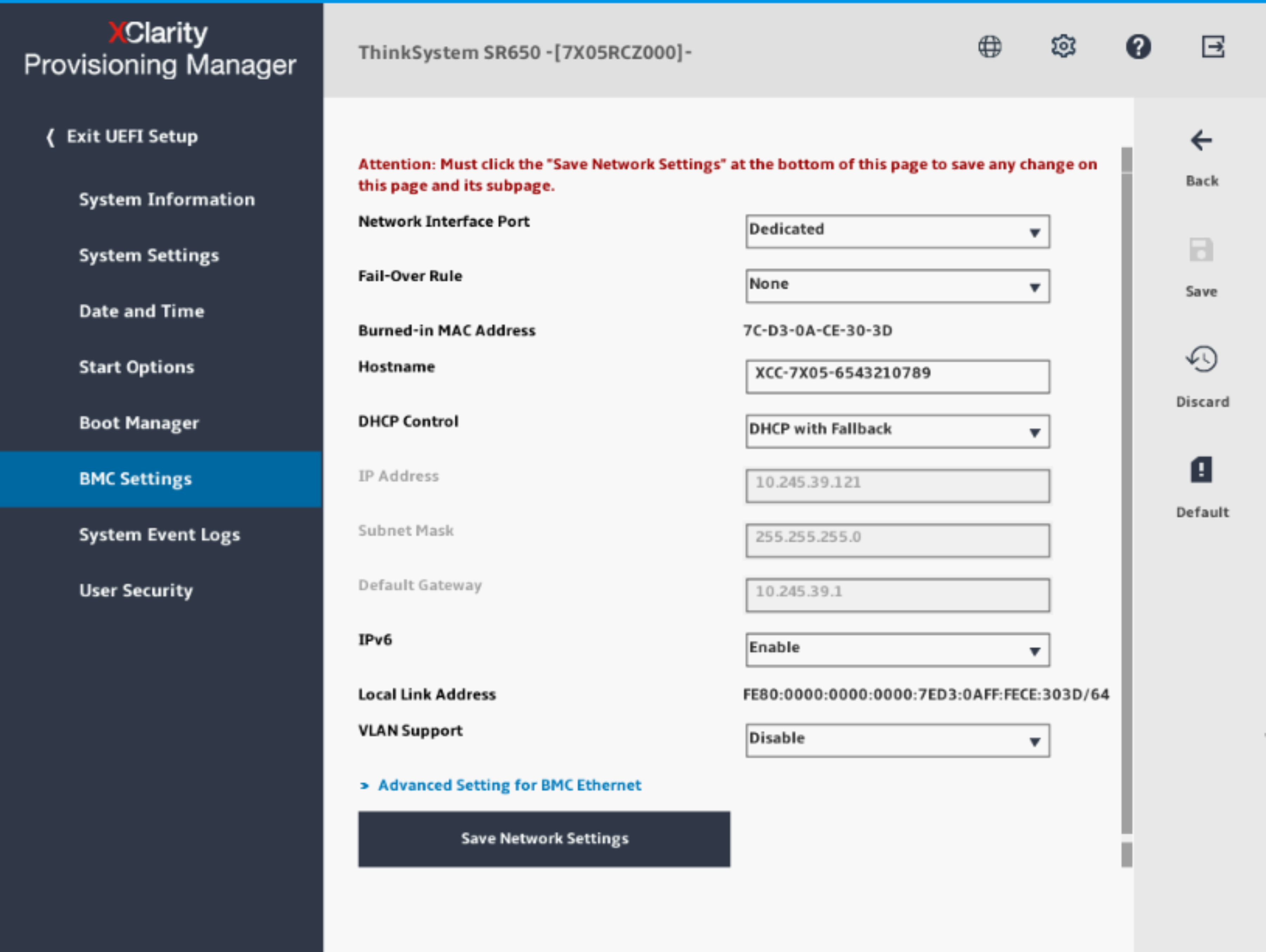 Setting up the XClarity Controller network connection through the