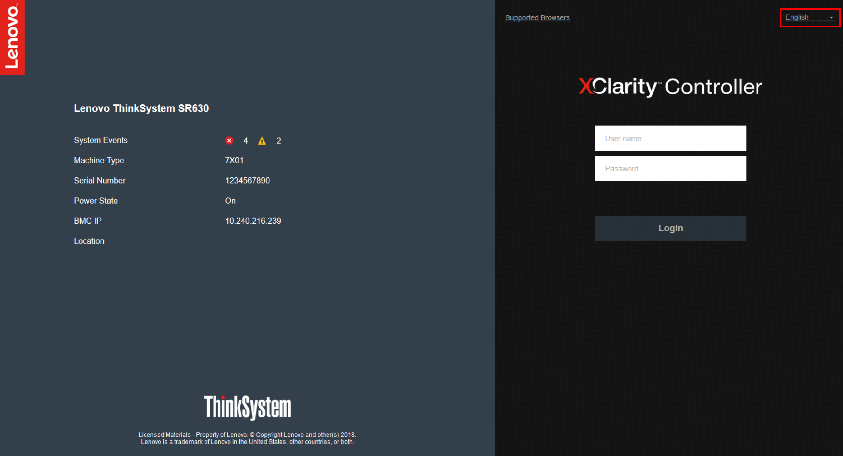 Logging in to the XClarity Controller - XClarity Controller